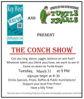 The Conch Show, March 31st