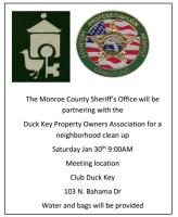 Cleanup Scheduled on Duck Key