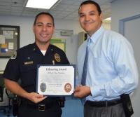 Officer Medina Receives Lifesaving Award