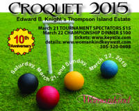 Womankind's Croquet Tournament, March 21-22