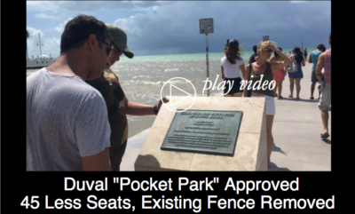 "Duval ""Pocket Park"" Plan Approved with 45 Less Seats and Existing Fence Removed"