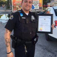 VFW Honors Officer Clark
