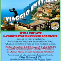 """Viaggio in Italia"" Dinner-for-Eight Chance Drawing"