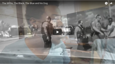 The White, The Black, The Blue and His Dog