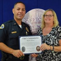 Wilcox Receives Chief's Commendation